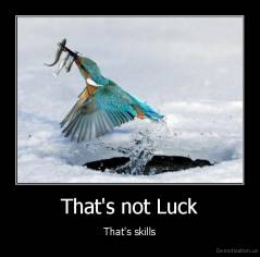 That's not Luck - That's skills