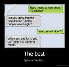 The best - Iphone function.