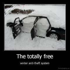 The totally free - winter anti-theft system