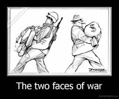 The two faces of war -