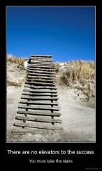 There are no elevators to the success - You must take the stairs