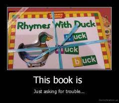 This book is  - Just asking for trouble...