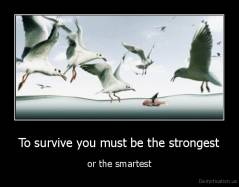 To survive you must be the strongest - or the smartest