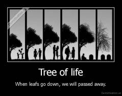 Tree of life - When leafs go down, we will passed away.