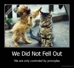 We Did Not Fell Out - We are only controled by principles