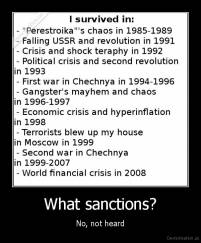 What sanctions? - No, not heard