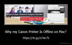 Why my Canon Printer Is Offline on Mac? - https://rb.gy/o7en7k