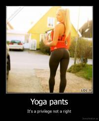Yoga pants - It's a privilege not a right