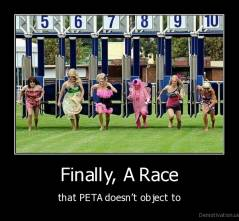 Finally, A Race - that PETA doesn't object to