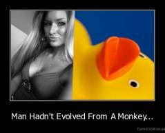 Man Hadn't Evolved From A Monkey... -