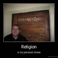 Religion - is my personal choise