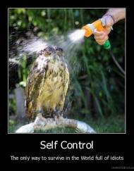 Self Control - The only way to survive in the World full of idiots