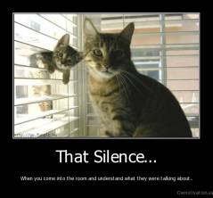 That Silence... - When you come into the room and understand what they were talking about..