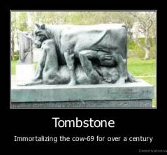 Tombstone - Immortalizing the cow-69 for over a century
