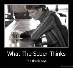 What The Sober Thinks - The drunk says
