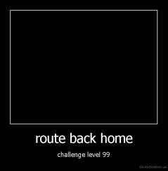 route back home - challenge level 99