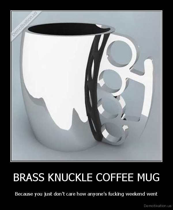 BRASS KNUCKLE COFFEE MUG