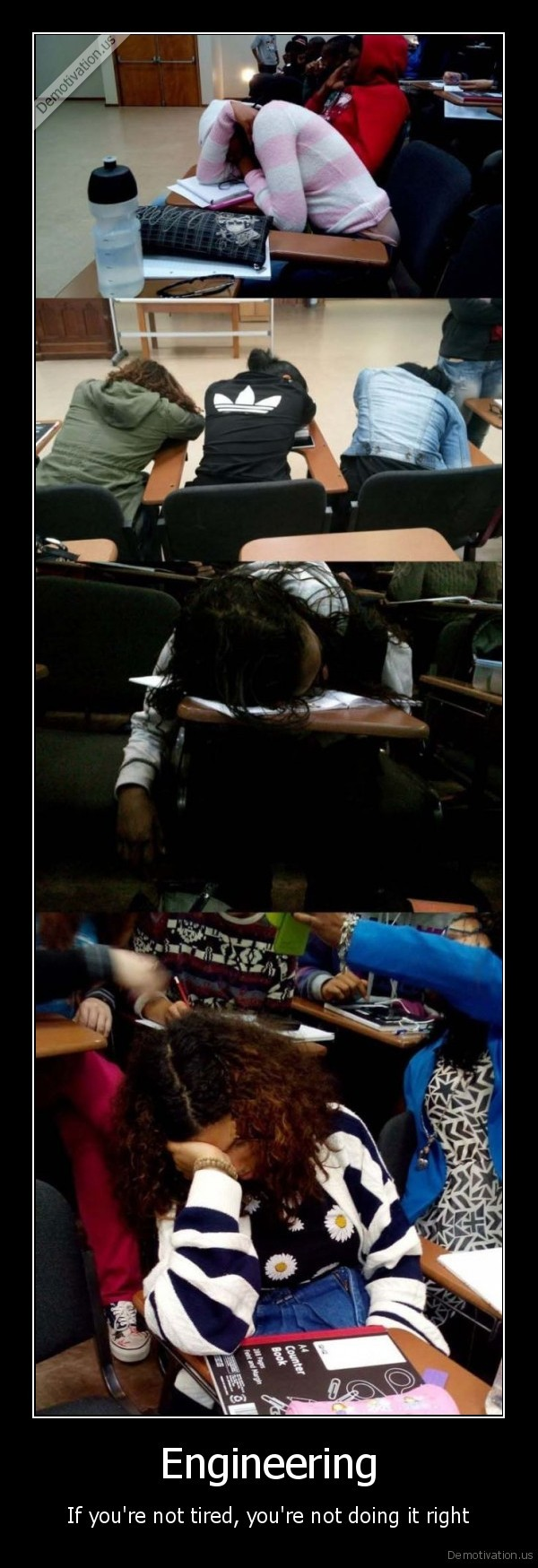 engineers,sleeping, students