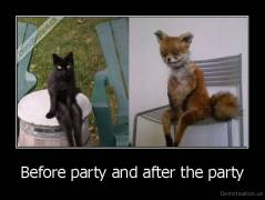 Before Party And After The Party Demotivation Us