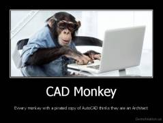 CAD Monkey - Evvery monkey with a pirated copy of AutoCAD thinks they are an Architect
