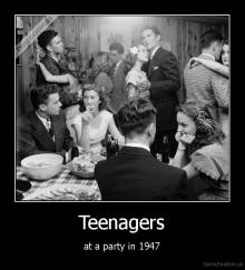 Teenagers - at a party in 1947