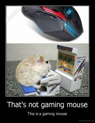 That's not gaming mouse - This is a gaming mouse