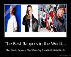 The Best Rappers in the World... - Slim Shady, Eminem, The White Guy from D-12, B-Rabbit :D