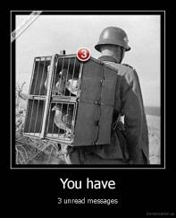 You have - 3 unread messages